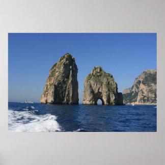 Isle of Capri Faraglioni Poster