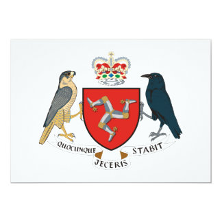 Isle of Man Coat of Arms Personalized Invites