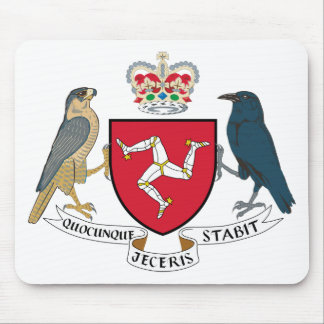Isle of Man Coat of Arms Mousepad