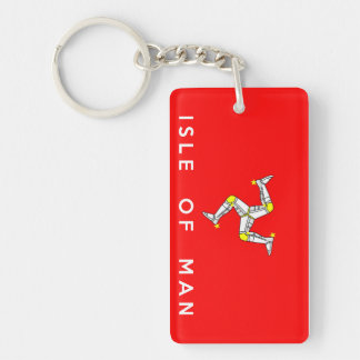 isle of man country flag text name key ring