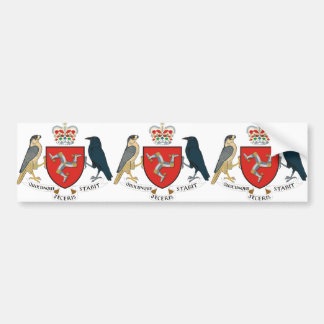 isle of man emblem bumper sticker