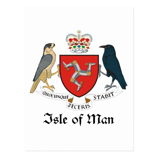 ISLE OF MAN - emblem/flag/symbol/coat of arms Postcard