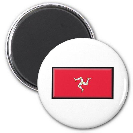 Isle of Man Flag 6 Cm Round Magnet