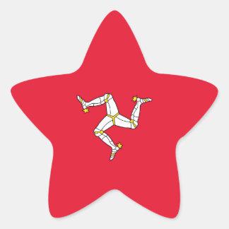 Isle of Man Flag. Britain, British Crown Star Sticker