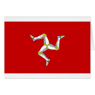 Isle of Man Flag Card