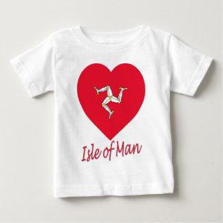 Isle of Man Flag Heart Baby T-Shirt