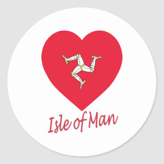 Isle of Man Flag Heart Stickers