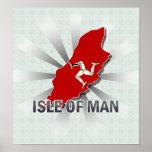 Isle Of Man Flag Map 2.0