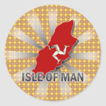 Isle Of Man Flag Map 2.0 Round Stickers