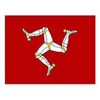 Isle Of Man Flag Postcard