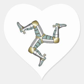 Isle of Man Heart Sticker