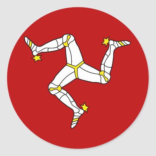 Isle Of Man High quality Flag Classic Round