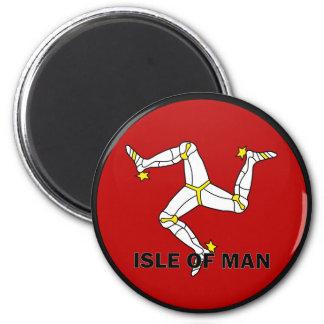 Isle Of Man Roundel quality Flag 6 Cm Round Magnet