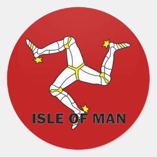 Isle Of Man Roundel quality Flag Stickers