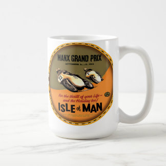 Isle of Man vintage motorcycle races Classic White Coffee Mug
