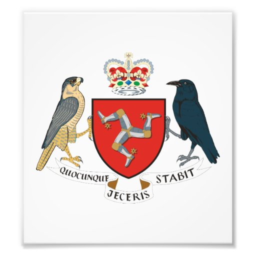Isle Of Mann Coat Of Arms Photo Art