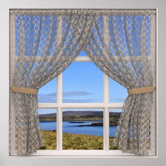 Isle of Skye (Scotland) Fake Window View with