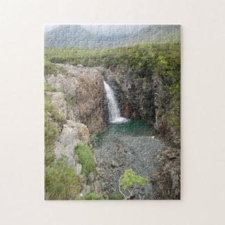 Isle of Skye,waterfall Jigsaw Puzzle