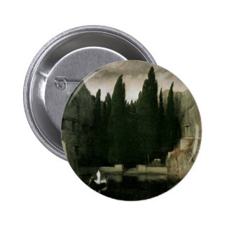 Isle of the Dead by Arnold Bocklin, Symbolism Art 6 Cm Round Badge
