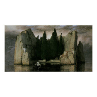 Isle of the Dead by Arnold Bocklin, Symbolism Art Poster