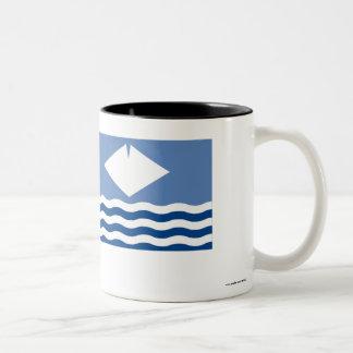 Isle of Wight Flag Two-Tone Coffee Mug