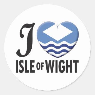 Isle of Wight Love Round Sticker