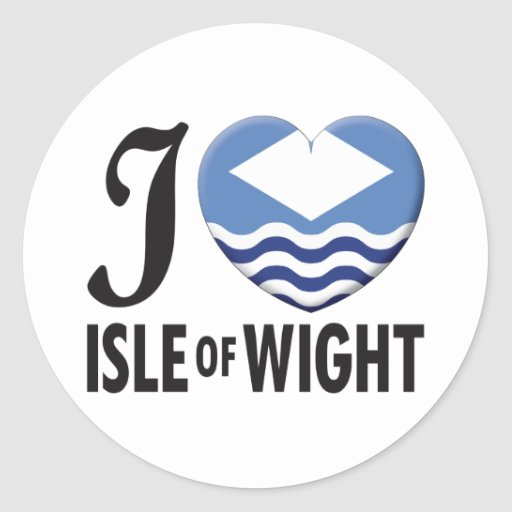 Isle of Wight Love Stickers