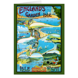 Isle of Wight Travel Poster Card
