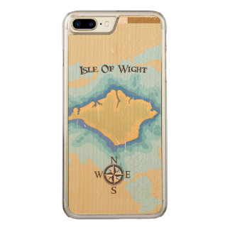 Isle of Wight Treasure map travel poster Carved iPhone 8 Plus/7 Plus Case