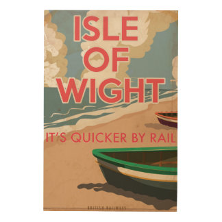 Isle of Wight Vintage locomotive Travel Poster Wood Canvases