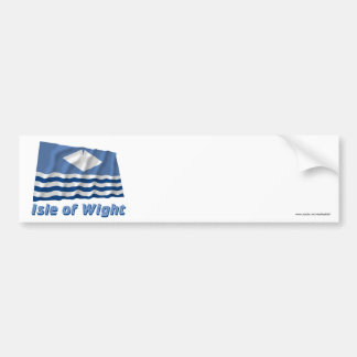 Isle of Wight Waving Flag with Name Car Bumper Sticker