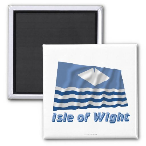 Isle of Wight Waving Flag with Name Refrigerator Magnet