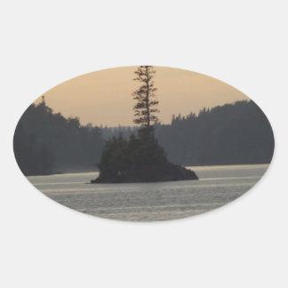 isle royale lake superior oval sticker