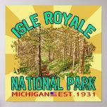 Isle Royale National Park, Michigan Poster