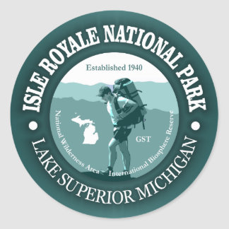 Isle Royale NP Round Sticker