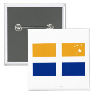 Isles of Scilly Flag 15 Cm Square Badge