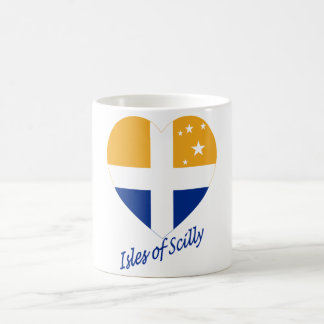 Isles of Scilly Flag Heart with Name Coffee Mugs