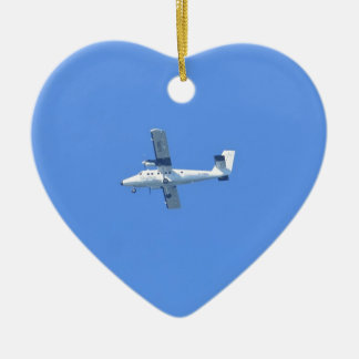 Isles Of Scilly Skybus Ceramic Heart Decoration