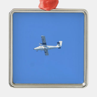 Isles Of Scilly Skybus Silver-Colored Square Decoration