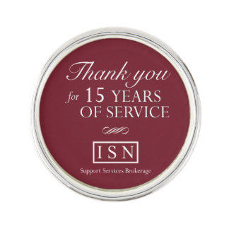 ISN Support Services Brokerage 15 Year Lapel Pin