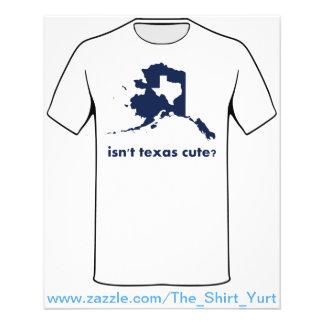 Isn't Texas Cute Compared to Alaska 11.5 Cm X 14 Cm Flyer