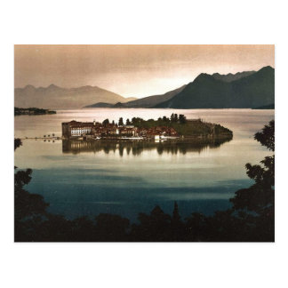 Isola Bella by moonlight, Maggiore, Lake of, Italy Postcard