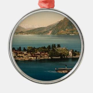 Isola Bella III, Lake Maggiore, Piedmont, Italy Silver-Colored Round Decoration