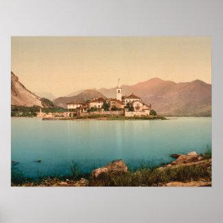 Isola Pescatori I, Lake Maggiore, Italy archival Poster