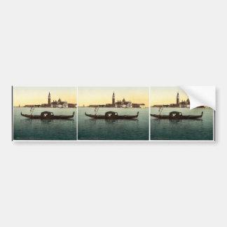 Isola San Georgio, Venice, Italy vintage Photochro Bumper Stickers