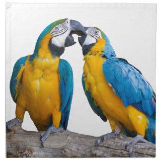isolated ara ararauna parrot napkin