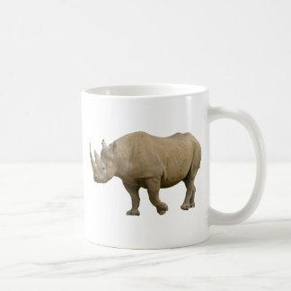 Isolated black rhinoceros mug