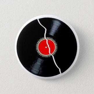 Isolated Broken Record 6 Cm Round Badge