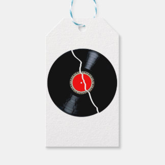Isolated Broken Record Gift Tags