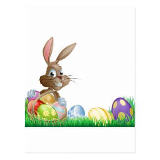Isolated Easter footer design Postcards
